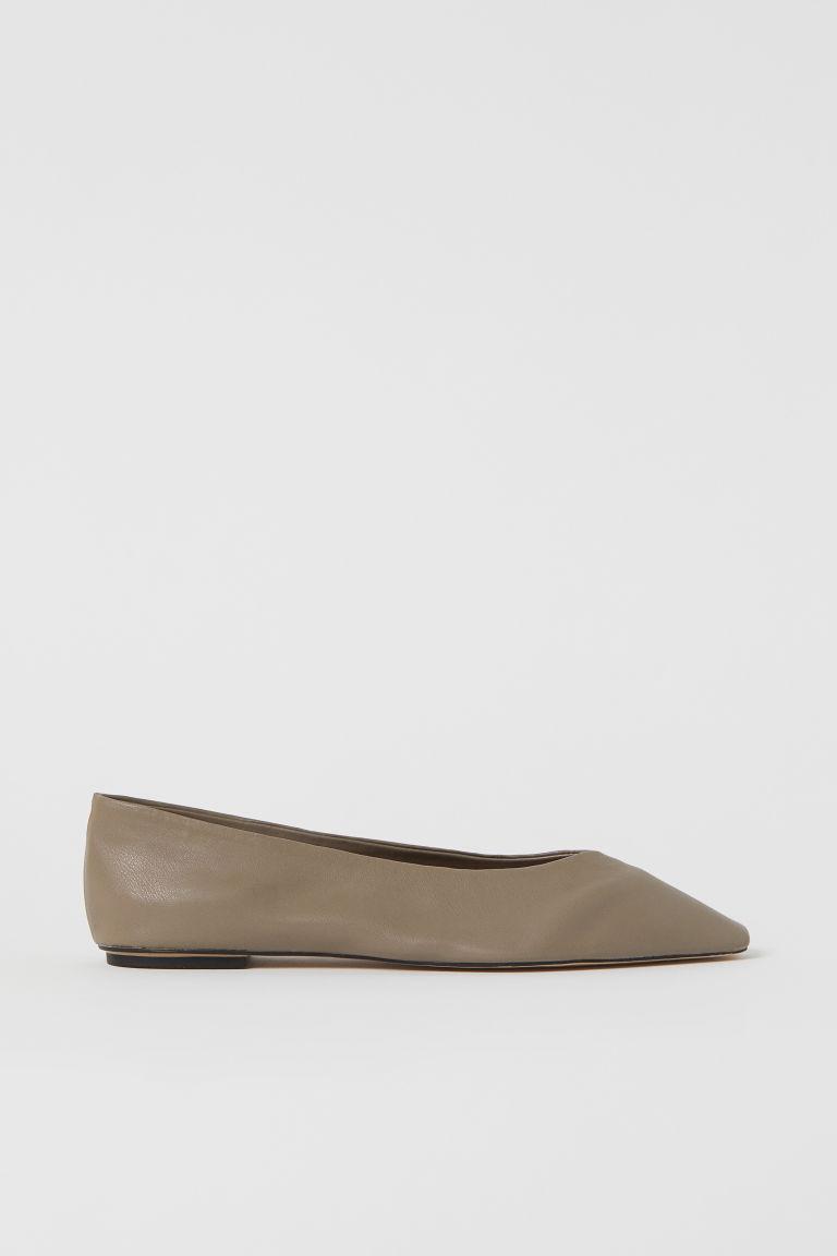 H & M - 芭蕾淺口鞋 - 米黃色