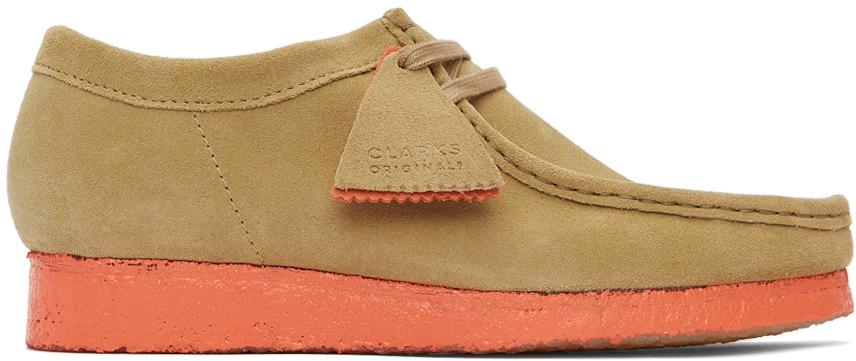 Clarks Originals 黄褐色 Wallabee 绒面革莫卡辛鞋
