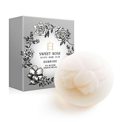 甜玫瑰香水香皂(白)140g【另有六入$750優惠,請至「限時折扣活動」選購】