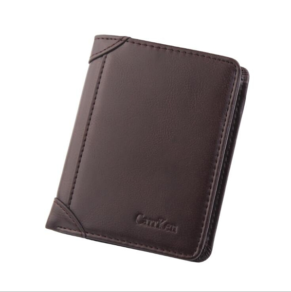 男士百搭男款多卡位錢夾 零錢包男士短款錢包 韓版豎款男錢包 三折復古皮夾男生卡包商務短夾