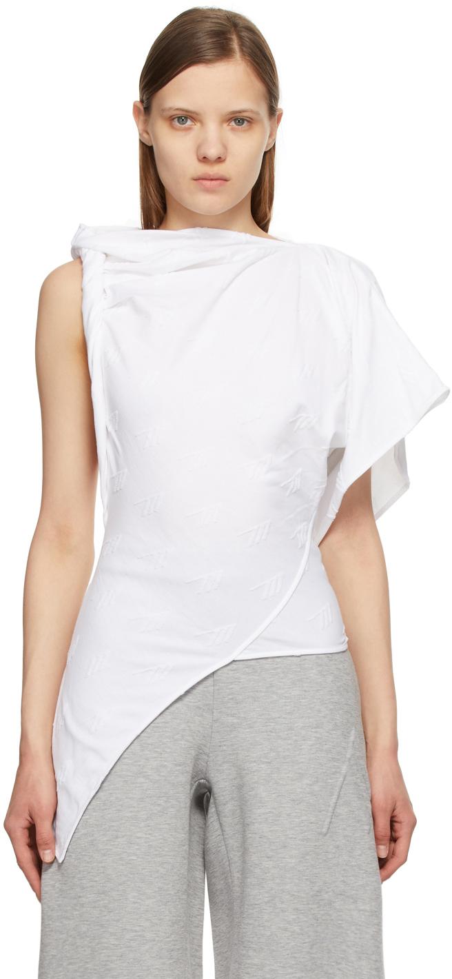 The Attico 白色毛圈布徽标 T 恤