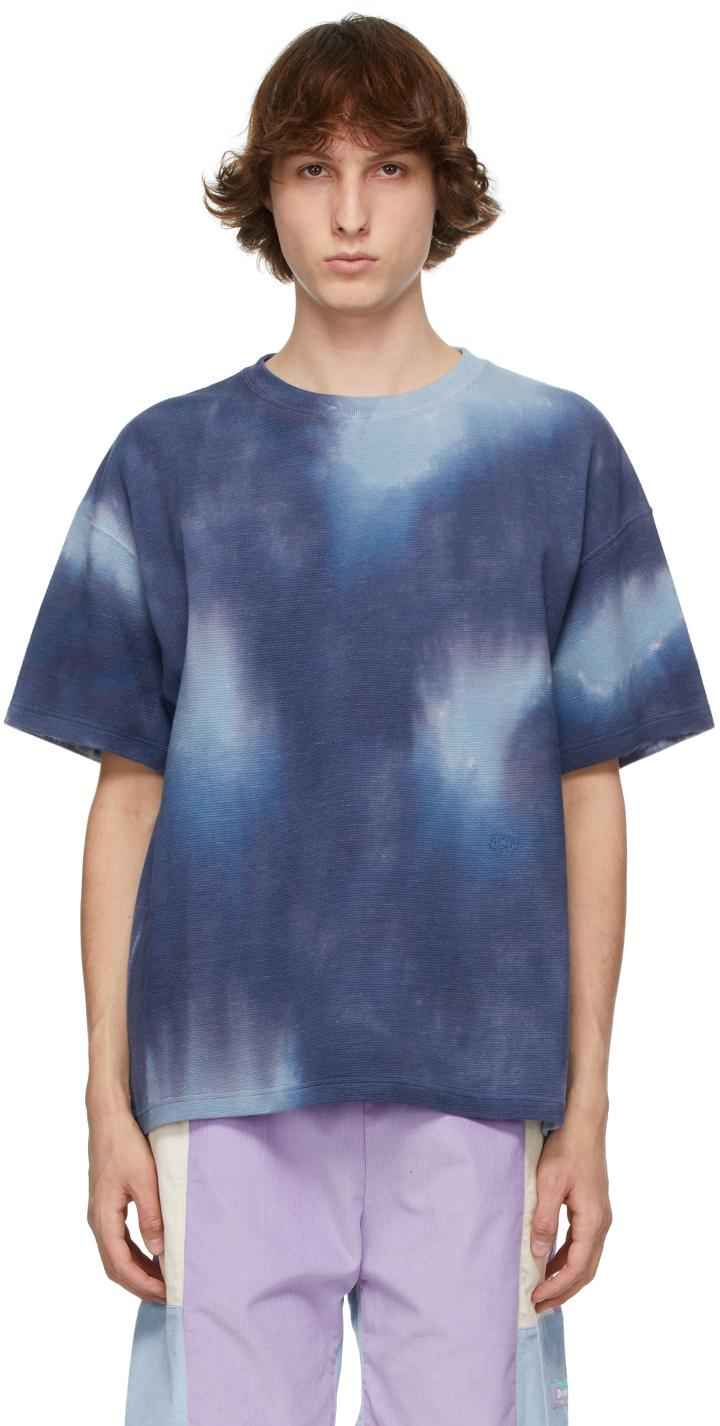 Schnayderman's 蓝色扎染 T 恤