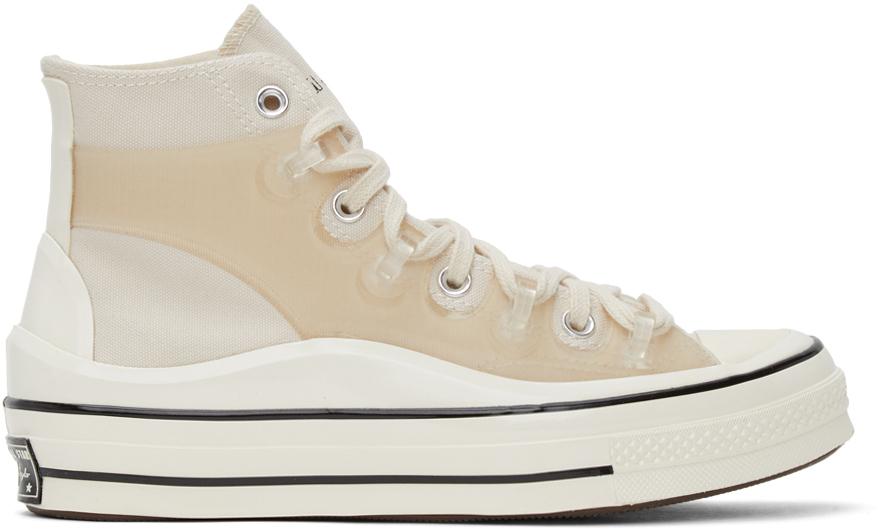 Converse 灰白色 Kim Jones 联名 Chuck 70 高帮运动鞋
