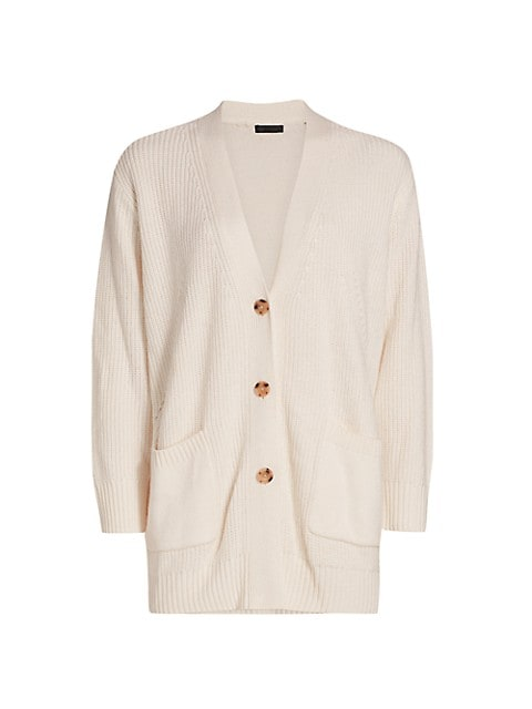 Cashmere-Blend Cardigan Coat