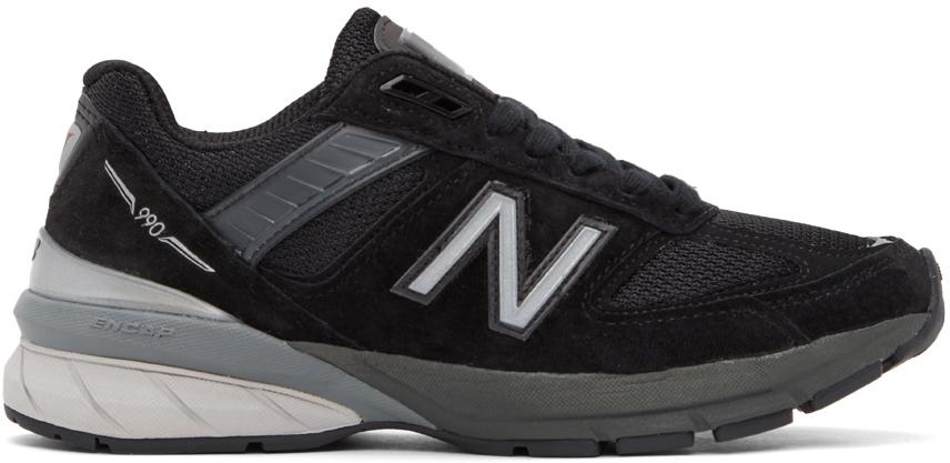 New Balance 黑色 990 V5 美产运动鞋