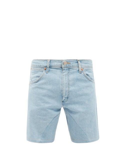 Bianca Saunders - X Wrangler Replay Denim Shorts - Mens - Blue