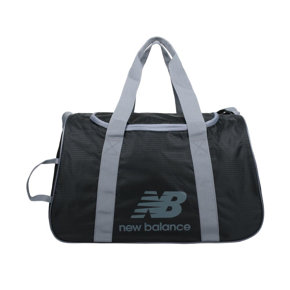 newbalance 中型運動提袋-裝備袋 側背包 肩背包 旅行袋 nb 黑灰