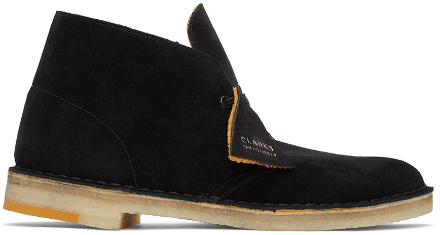 Clarks Originals 黑色绒面革沙漠靴