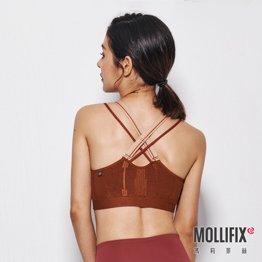 MOLLIFIX 瑪莉菲絲 A++ 微光可調肩帶浮托Bra  (肉桂棕)