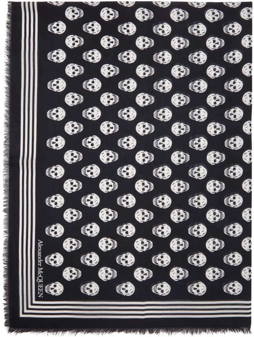 Alexander McQueen 黑色 Biker 围巾