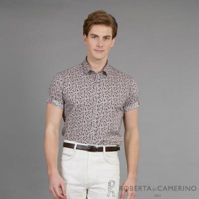 ROBERTA諾貝達  台灣製 紳士品味 型男超修身版短袖襯衫 紫色