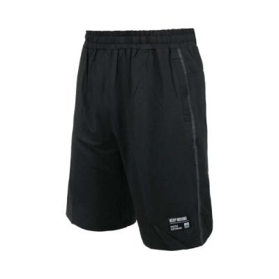 FIRESTAR 男彈性訓練籃球短褲-運動 慢跑 路跑 五分褲 針織 吸濕排汗 B1705-10 黑灰