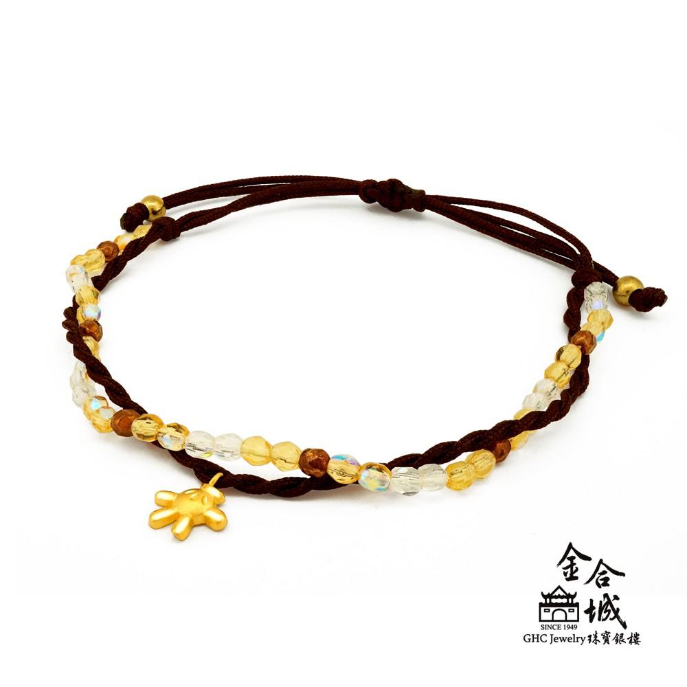 【迪士尼金飾】米奇小手編織手環(金重約0.15錢)