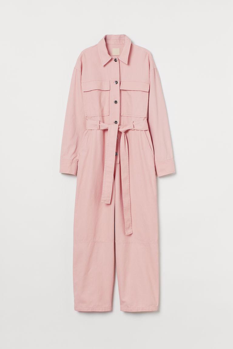 H & M - 棉質連身工作服 - 粉紅色