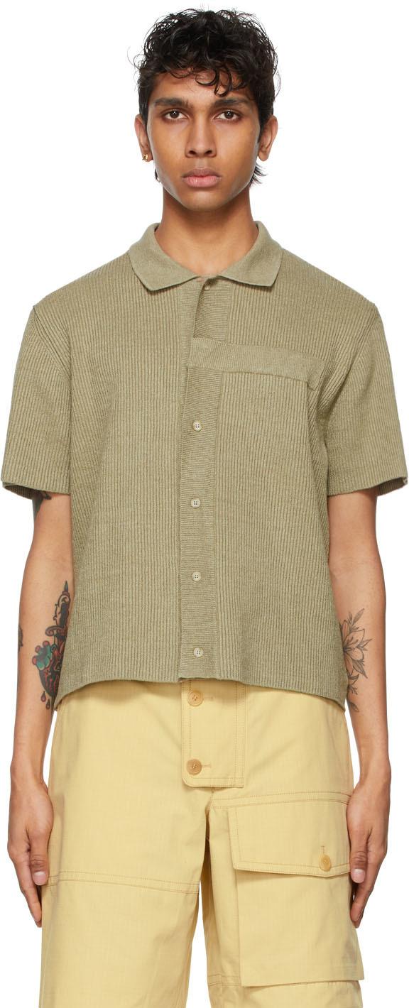 Jacquemus 绿色 La Chemise Maille 短袖开衫