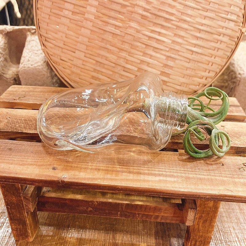 手工燒製歪七扭八玻璃創意小花瓶 空氣鳳梨花器