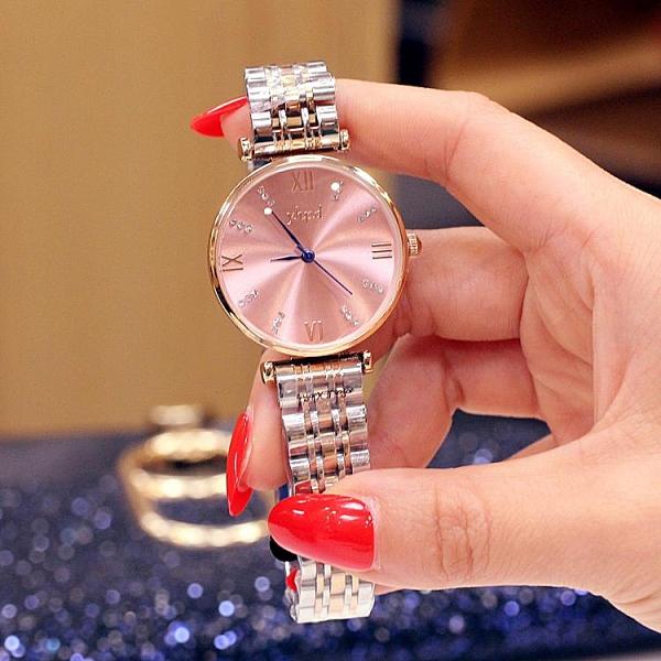 手錶女 網紅超薄高檔奢華女士手表韓版滿天星鋼帶石英滿鉆潮腕表女表閨蜜 小衣裡