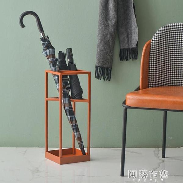 雨傘架 鐵梵 設計師雨傘架門口放傘神器ins風傘立架收納架窄創意傘桶小型 MKS阿薩布魯