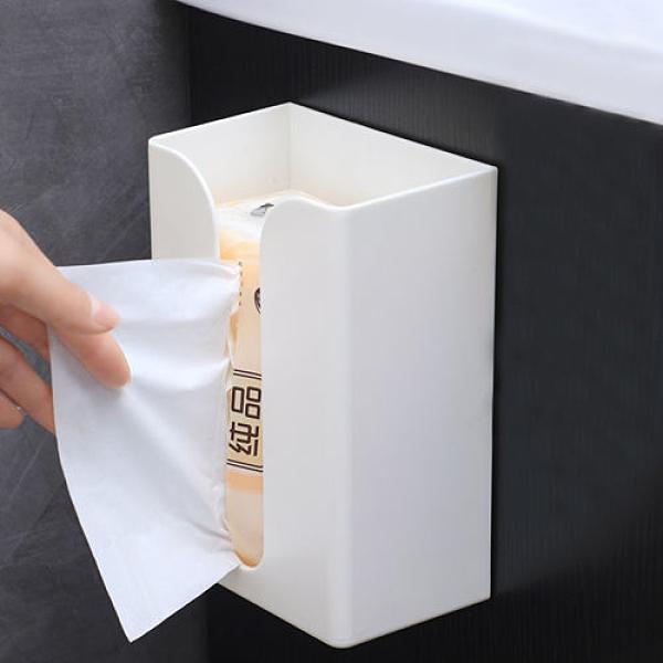 紙巾架 衛生間紙巾盒客廳壁掛式抽紙盒廁所餐巾紙盒免打孔車載紙巾盒家用
