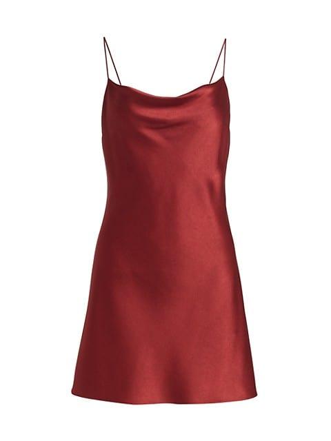 Harmony Draped Slip Mini Dress