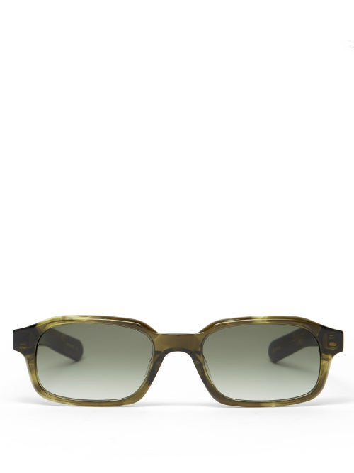 Flatlist - Hanky Square Acetate Sunglasses - Mens - Khaki