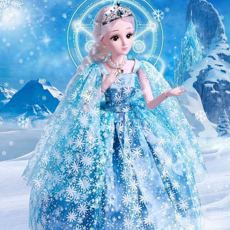 【嚴選特惠】60CM超大依甜芭比娃娃套裝會說話的女孩公主玩具單個洋娃娃衣服
