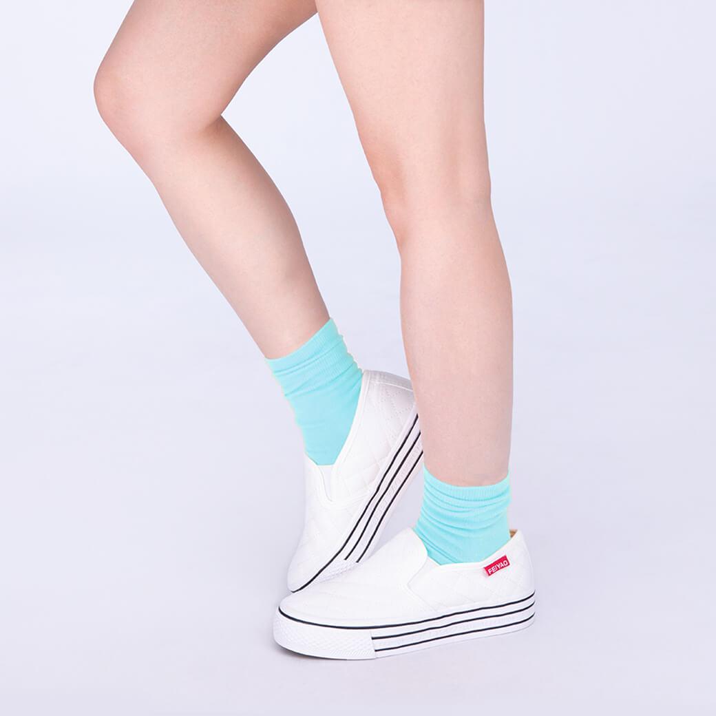 feFree好襪-愛琴藍海襪-神話藍-M