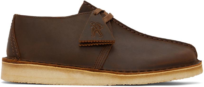 Clarks Originals 棕色 Desert Trek 德比鞋