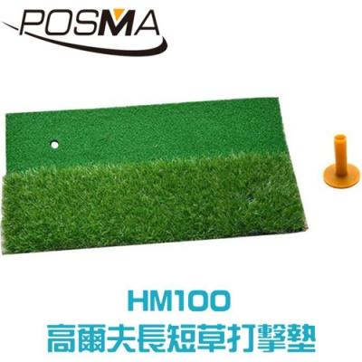 POSMA 高爾夫雙色打擊墊 (30 X 60cm) 贈塑膠球座 HM100
