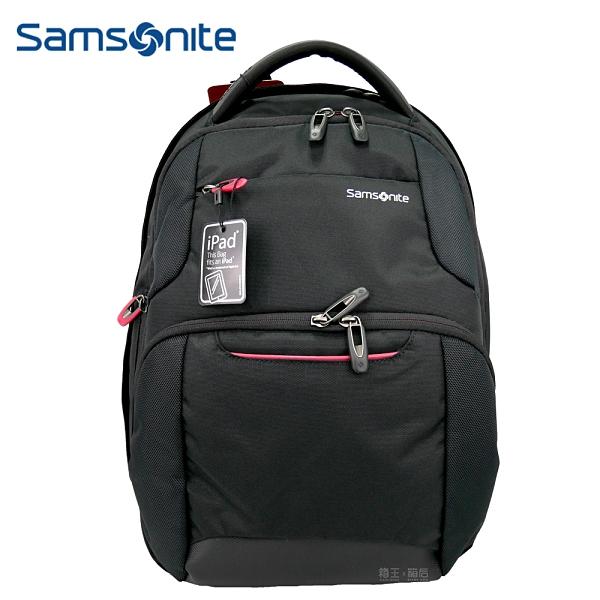 新秀麗 Samsonite 15吋筆電包 可插拉桿後背包 多功能後背包 商務尼龍後背包 63Z*09012(黑)