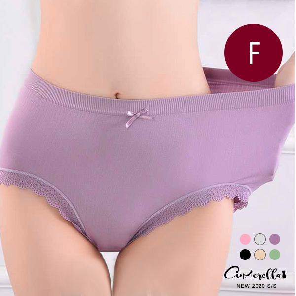 【ENW040685】1009高彈性包臀透氣蕾絲滾邊內褲(預購)F