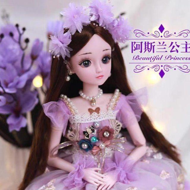 60厘米怡甜芭比洋娃娃套裝公主兒童仿真精致SD女孩玩具超大號單個