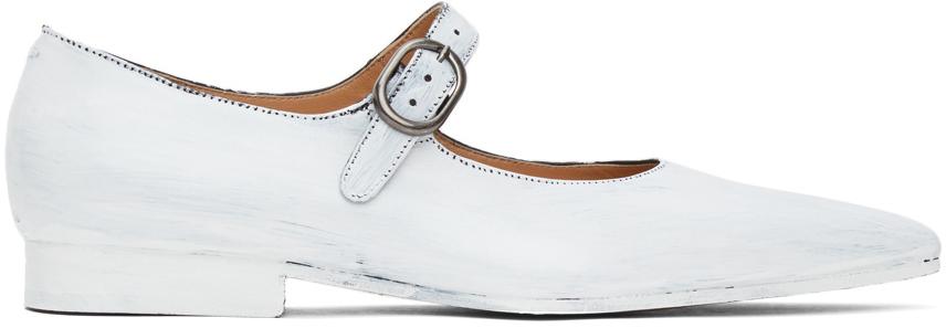 Maison Margiela 白色涂绘芭蕾鞋