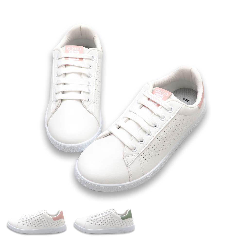 休閒鞋-韓風舒適綁帶小白鞋