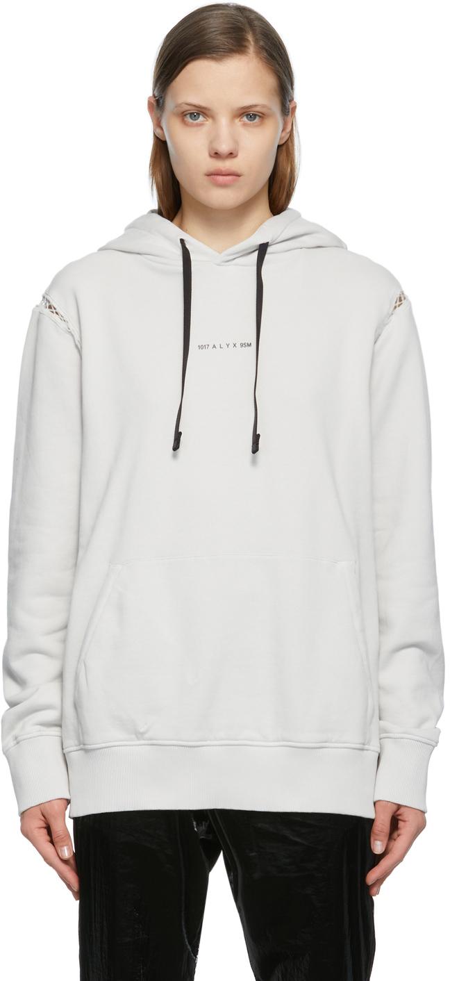 1017 ALYX 9SM 灰白色 Insert Logo 连帽衫