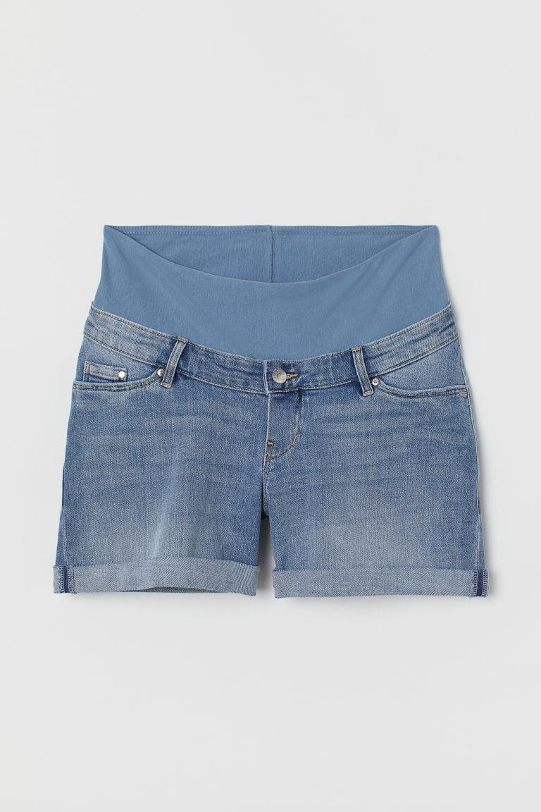 H & M - MAMA 丹寧短褲 - 藍色
