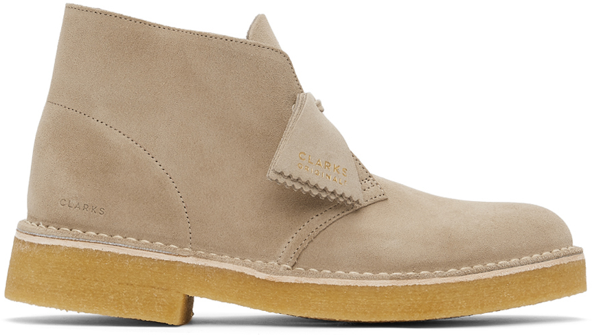 Clarks Originals 驼色 221 绒面革沙漠靴