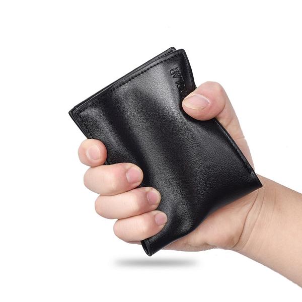 韓版橫款男錢包 百搭時尚皮夾男生卡包商務短夾 三折男士男款多卡位錢夾 零錢包男士短款錢包