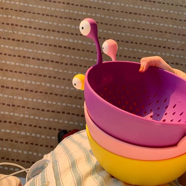 瀝水籃 果盤零食盤水果籃洗菜盆瀝水籃果籃客廳家用水果盤 古梵希