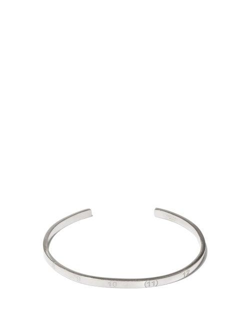 Maison Margiela - 11-engraved Sterling-silver Bracelet - Mens - Silver