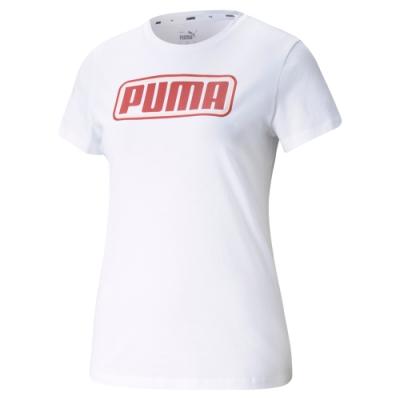 【PUMA官方旗艦】基本系列Summer Stripes短袖T恤 女性 84581102