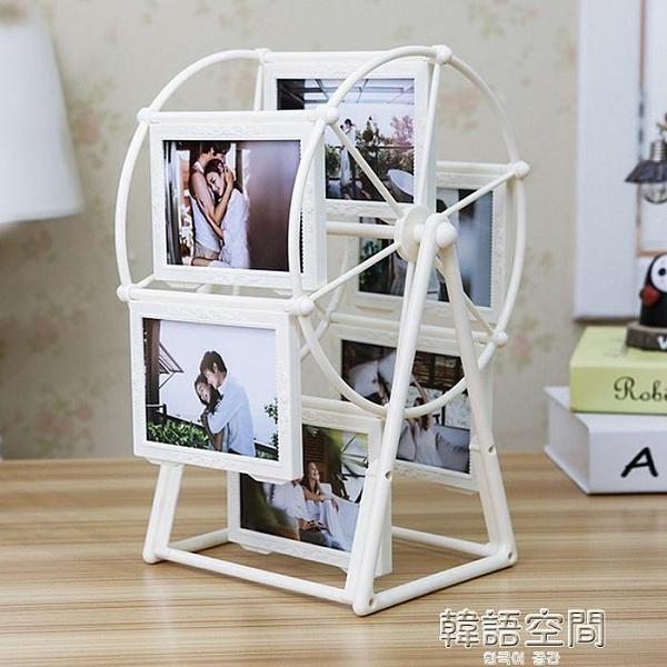 創意DIY手工製作訂製照片風車旋轉相框擺台相冊結婚生日禮物女生 【韓語空間】