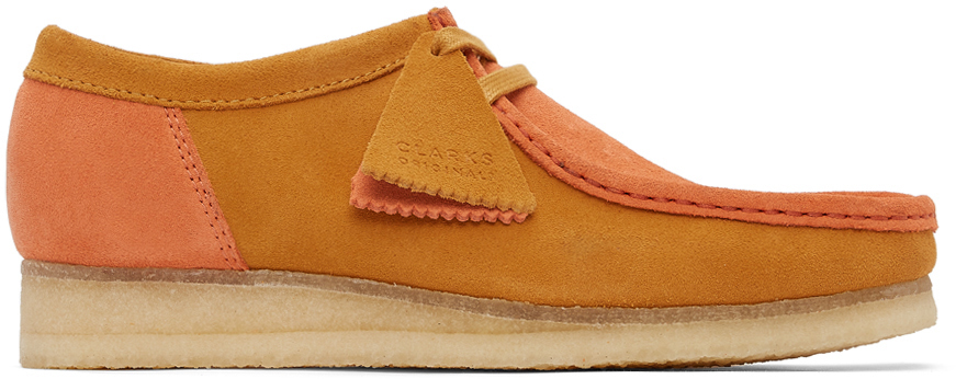 Clarks Originals 橙色 Wallabee 2 CLR 绒面革莫卡辛鞋