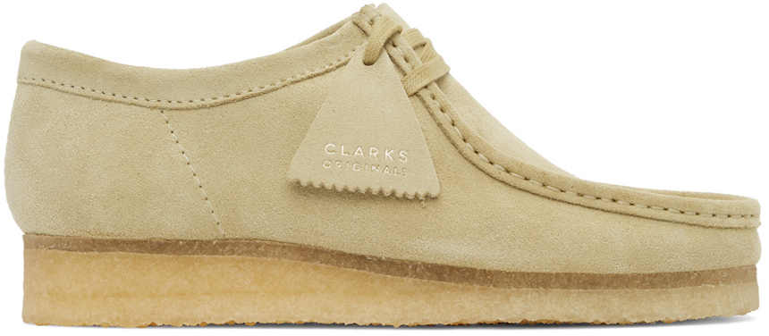 Clarks Originals 驼色 Wallabee 绒面革莫卡辛鞋