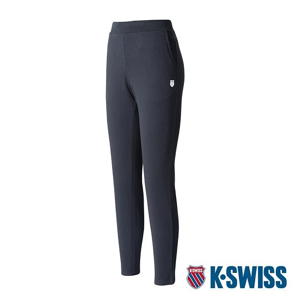 【超取】K-SWISS Straight Pants棉質長褲-女-黑