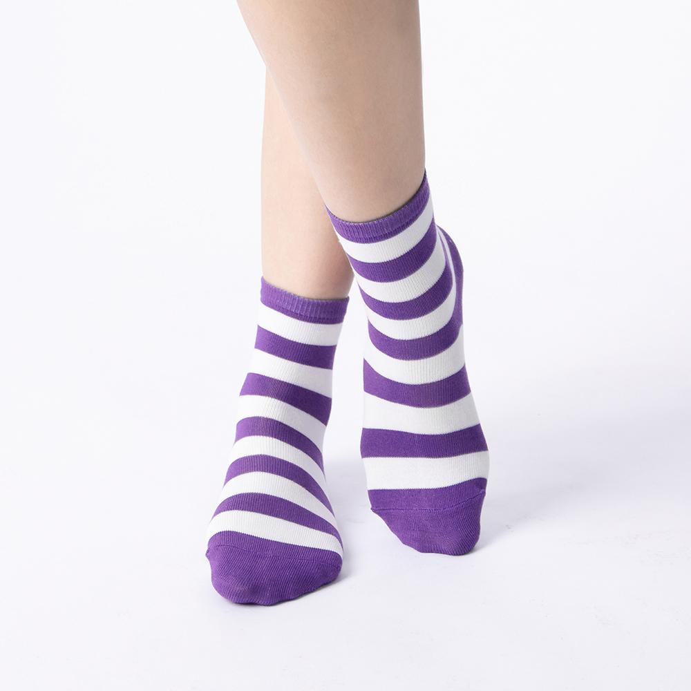 好朋友進行式條紋襪-葡萄紫(商品編號:S0602371S)