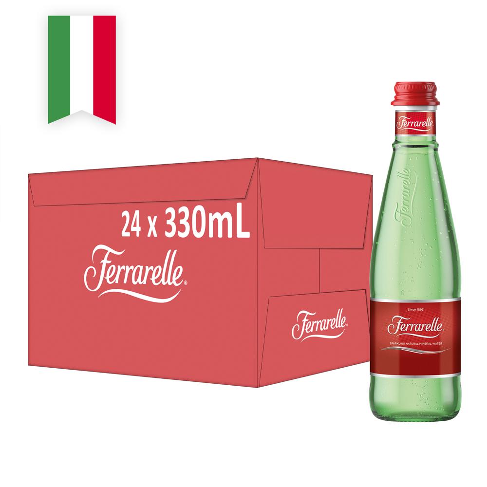 【Ferrarelle 法拉蕊】氣泡天然礦泉水330ml(24入/GLASS)【康是美】