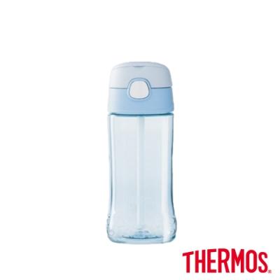 THERMOS膳魔師兒童吸管瓶0.45L(F4011T-BLA)(淺藍色)
