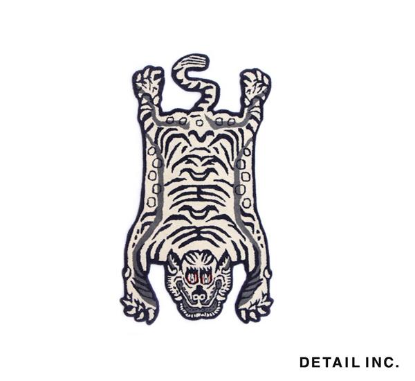 DETAIL White Tibetan Tiger Rug限定西藏白虎毯