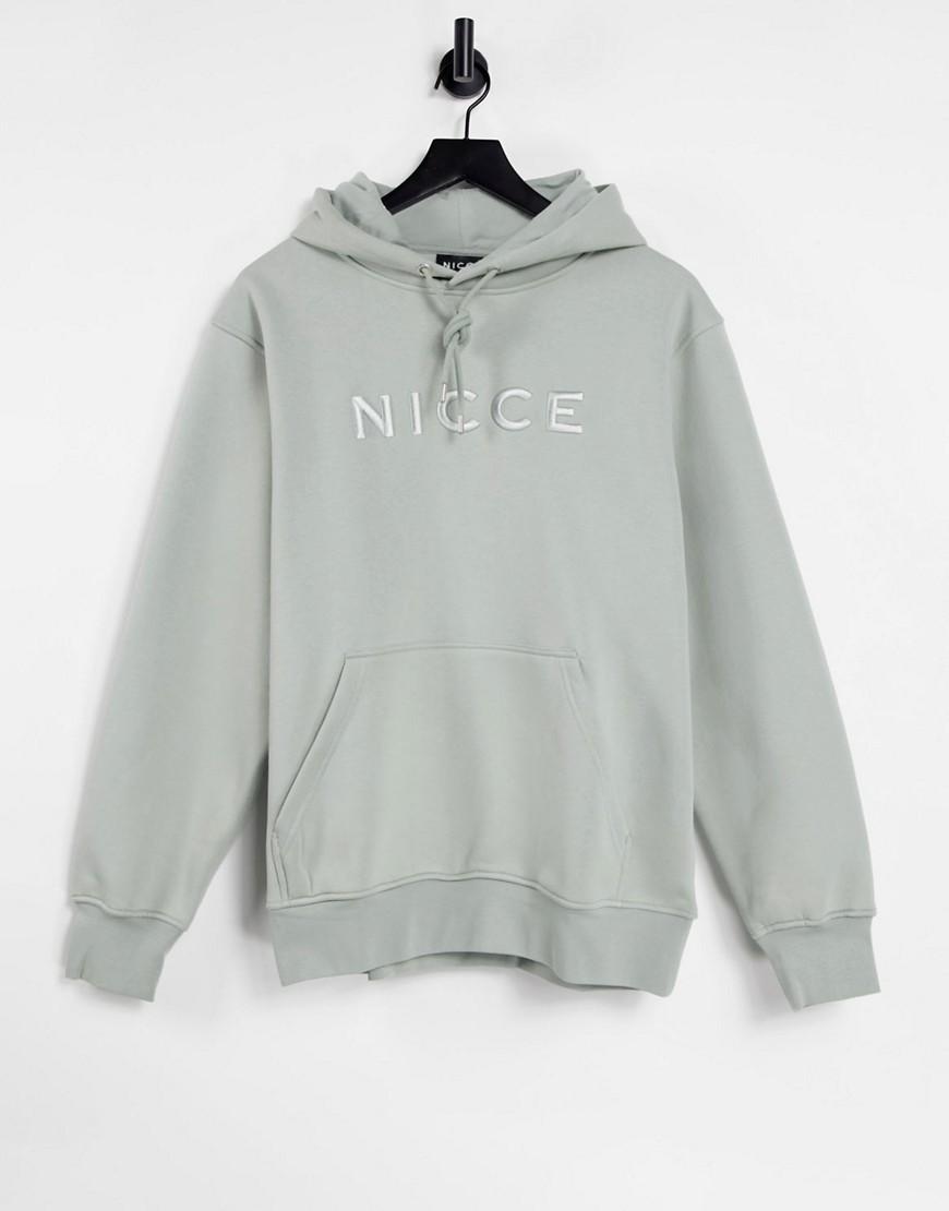 Nicce mercury hoodie in sage green